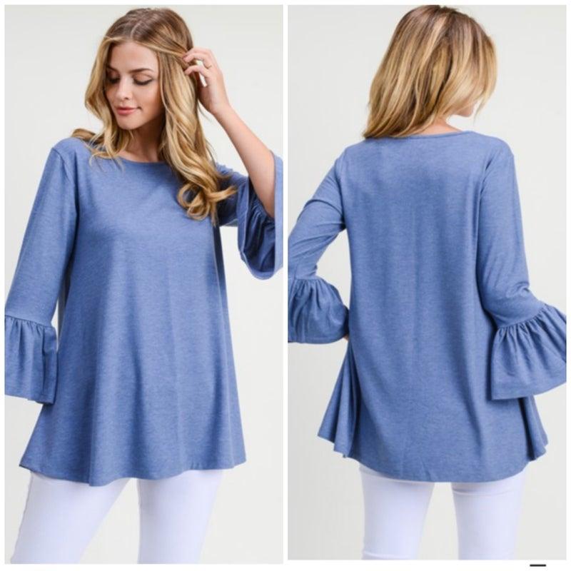Blue Bell Sleeve Top