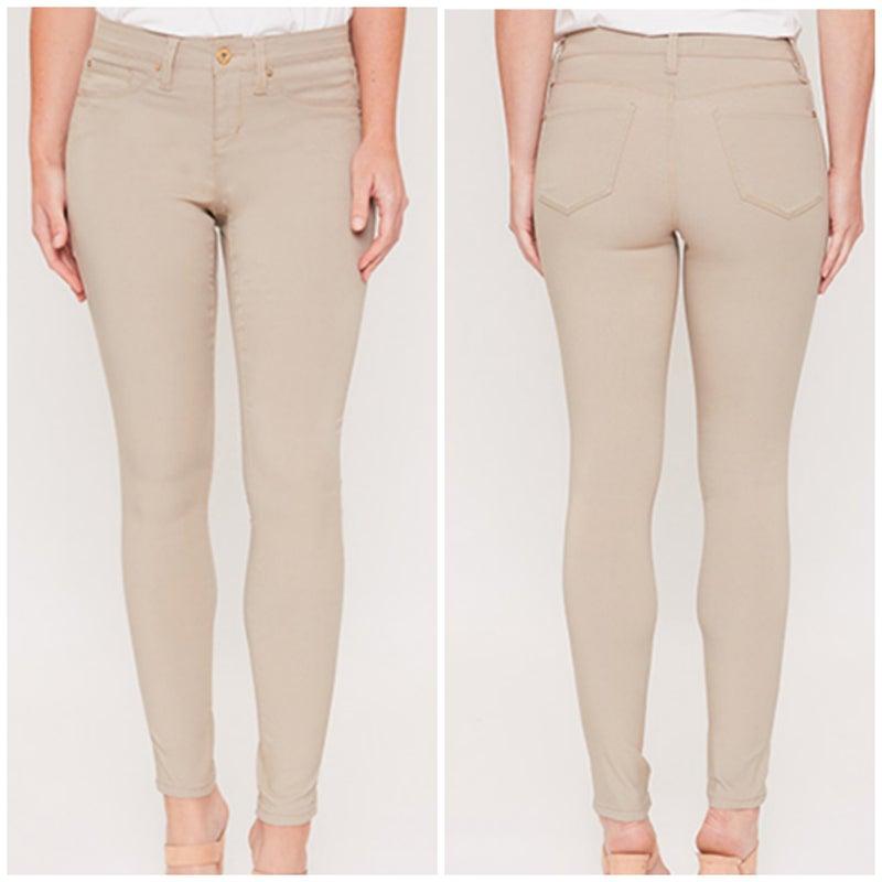Khaki Hyperstretch Skinny Jeans