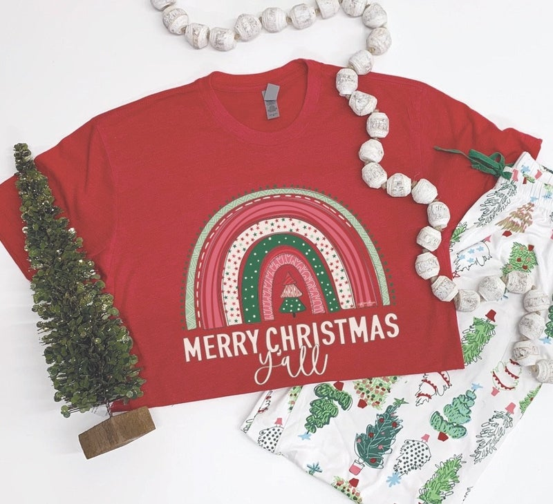 FINAL SALE Merry Christmas Y'all Tee *Final Sale*