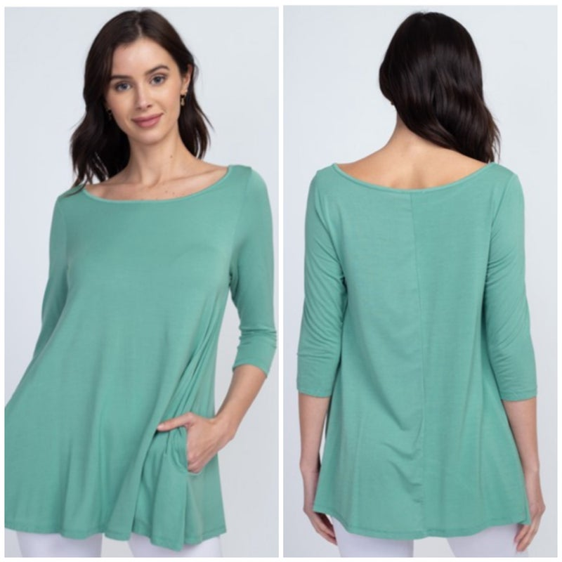 Seafoam Pocket Tunic