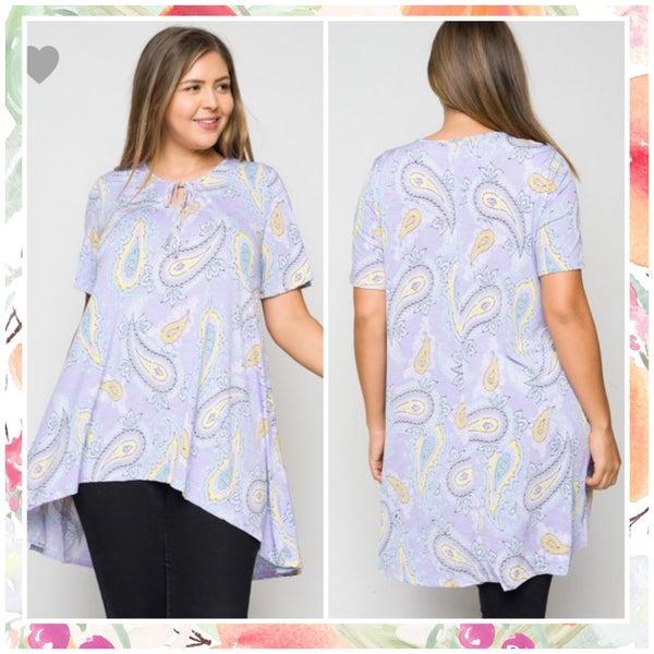 FINALSALE Lilac Paisley Print Tunic