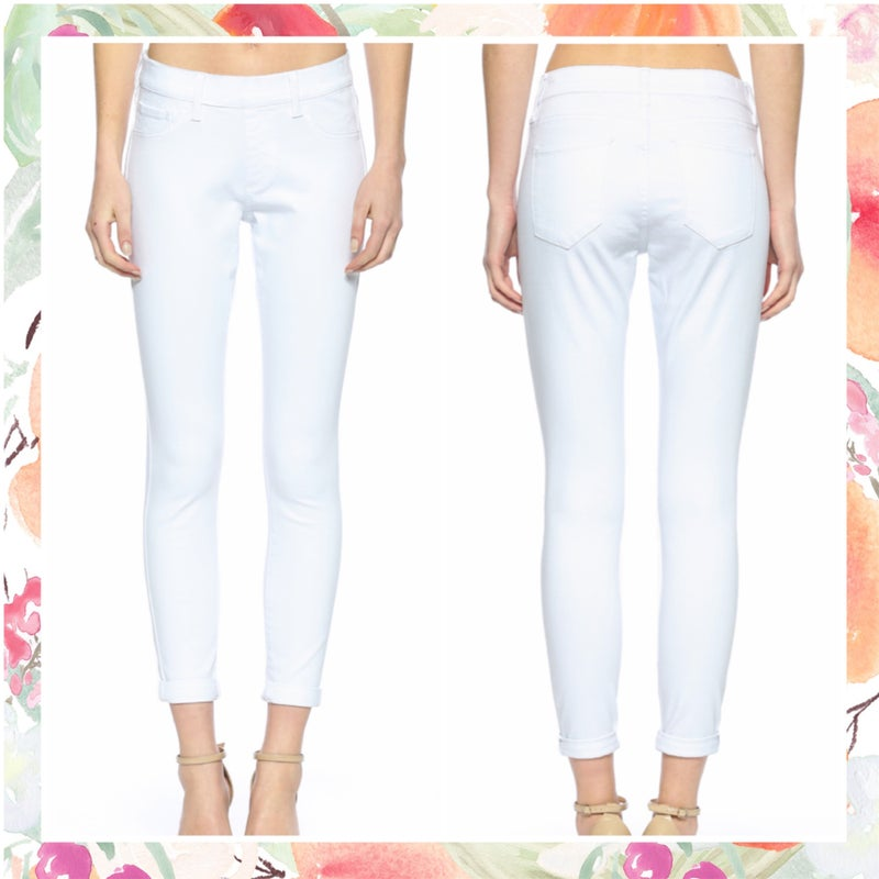 Cello White Pull On Crop Skinny