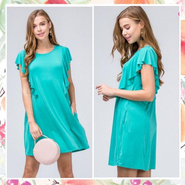 FINAL SALE Jade Ruffle Dress