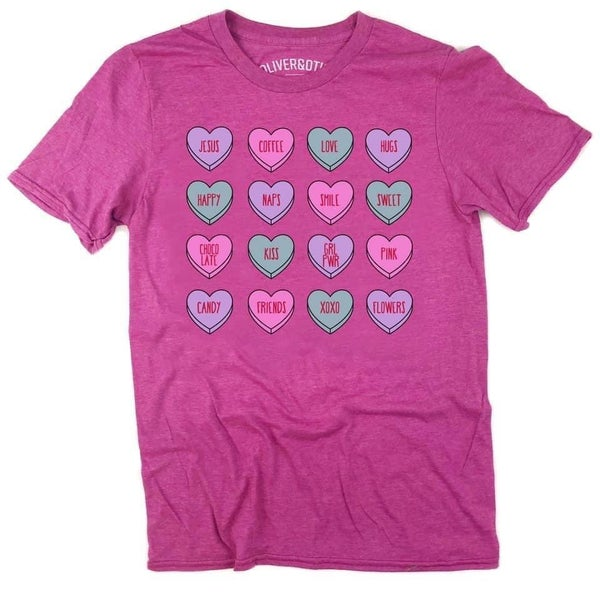 Pink Candy Hearts Tee Holiday FINAL SALE