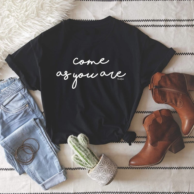 Black Come As You Are Tee