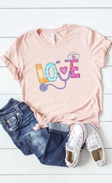 Peach Nurse Love Tee