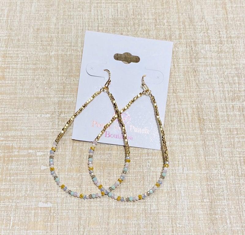 Mint & Gold Multi Beaded Earrings