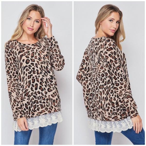 Leopard Lace Tunic