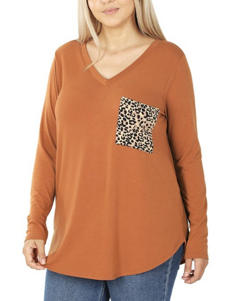 DEAL OF THE DAY Animal Print Pocket Top