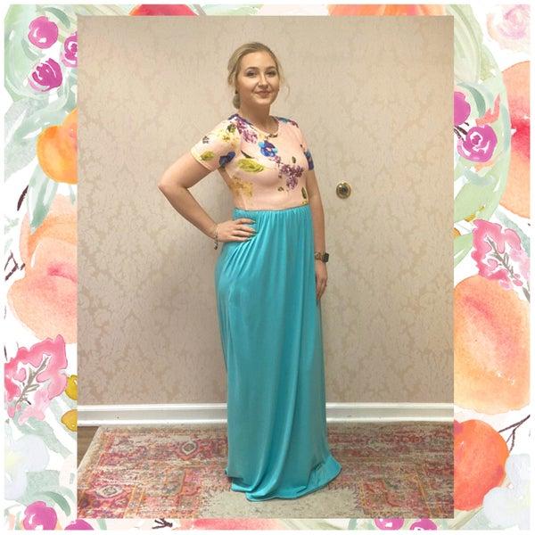Blush & Mint Floral Pocket Maxi Dress