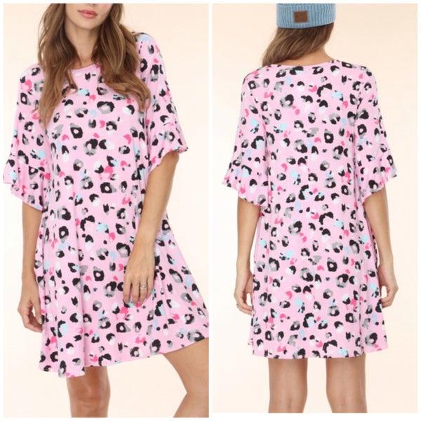 Pink Animal Print Dress