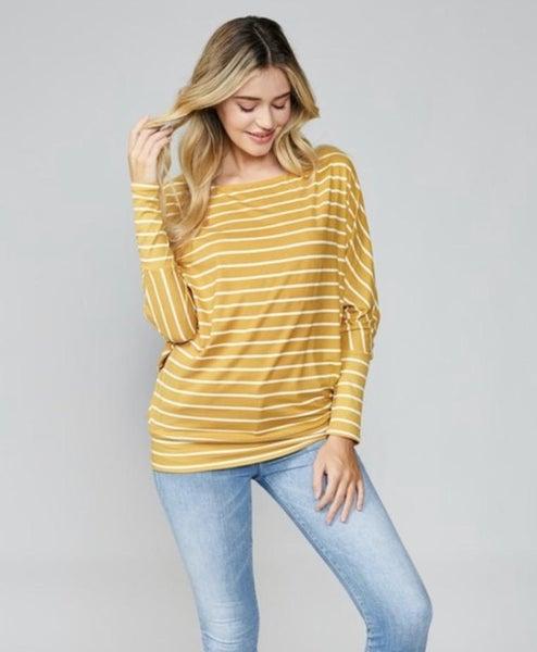 Mustard Striped Tunic