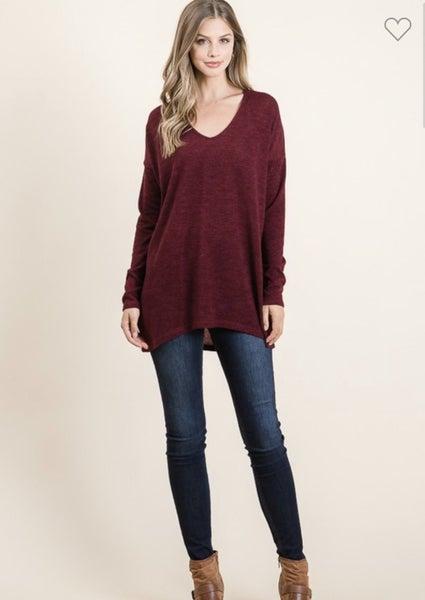 Wine Sweater Tunic