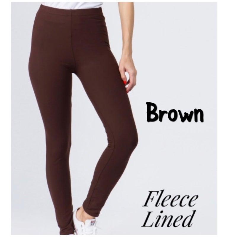 Fall Fleece Lined Leggings