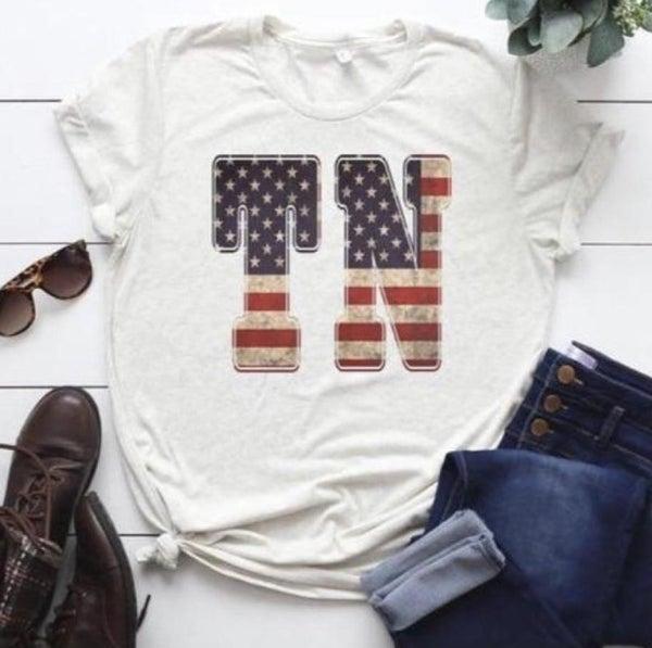 TN American Flag Tee
