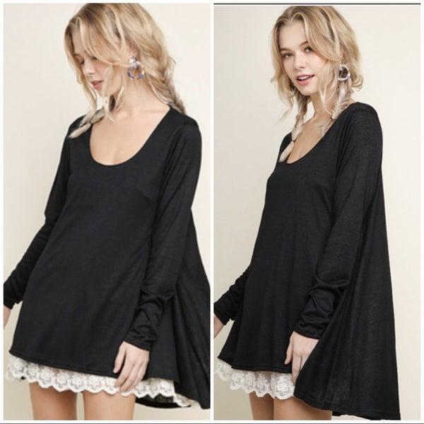 Umgee Black Lace Tunic
