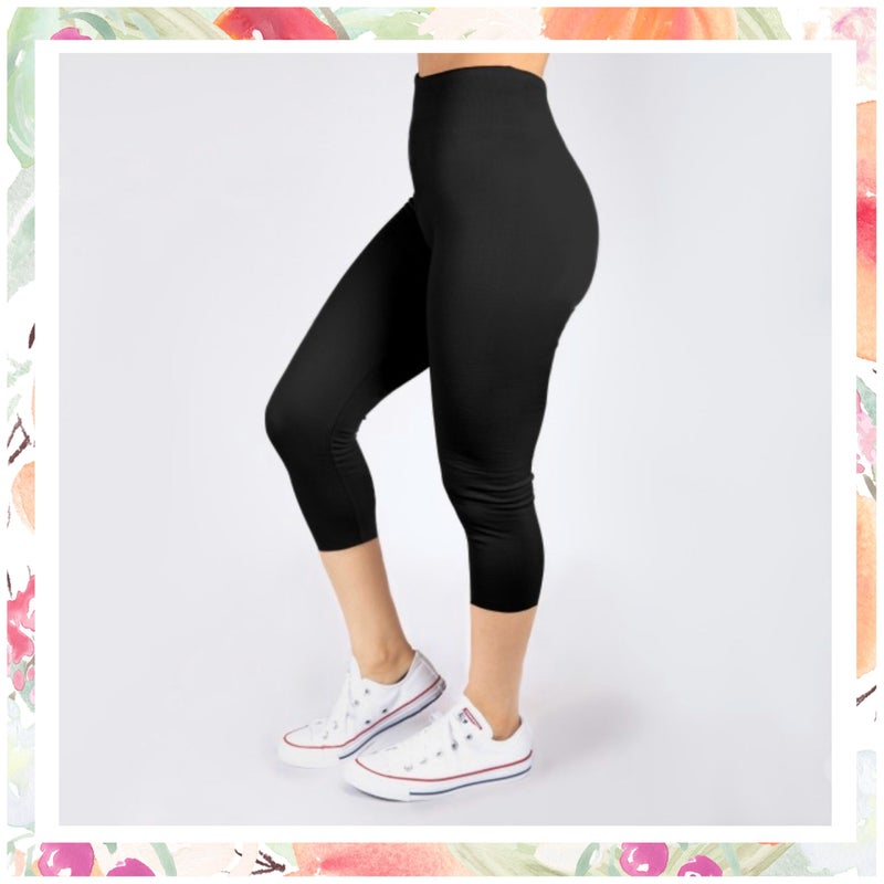 Black Stretchy Capri Leggings
