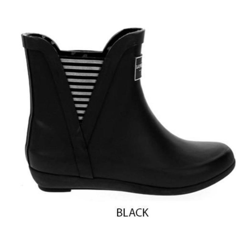 Black Striped Rainboots