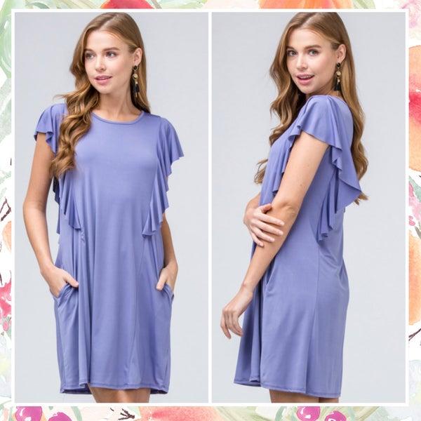 FINAL SALE  Purple Ruffle Dress *Final Sale*