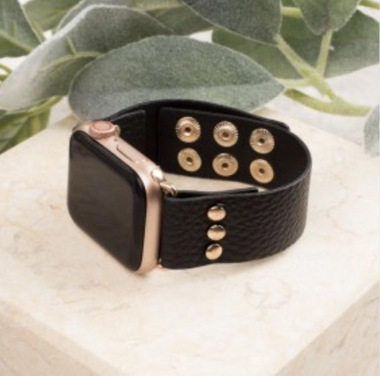 Black Snap Apple Watch Band (Fits 38/40)