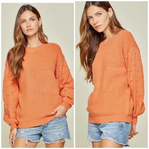 Rust Dot Sleeve Sweater