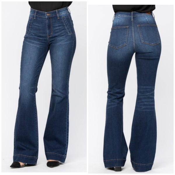 Judy Blue High Rise Trouser Flares
