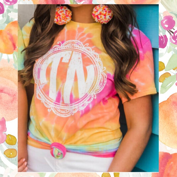 TN Monogram Tie Dye Shirt