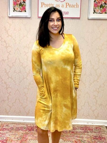 Mustard Tie Dye Dress