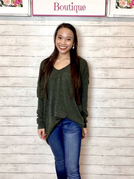 LAST CHANCE FINALSALE Olive Sweater Tunic