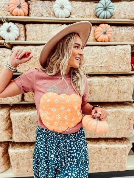 Mauve Pumpkin Tee