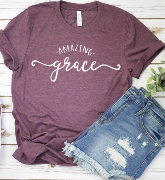 Plum Amazing Grace Tee