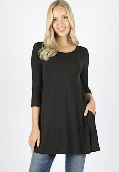 Deal of the Day Boat Neck Pocket Tunic