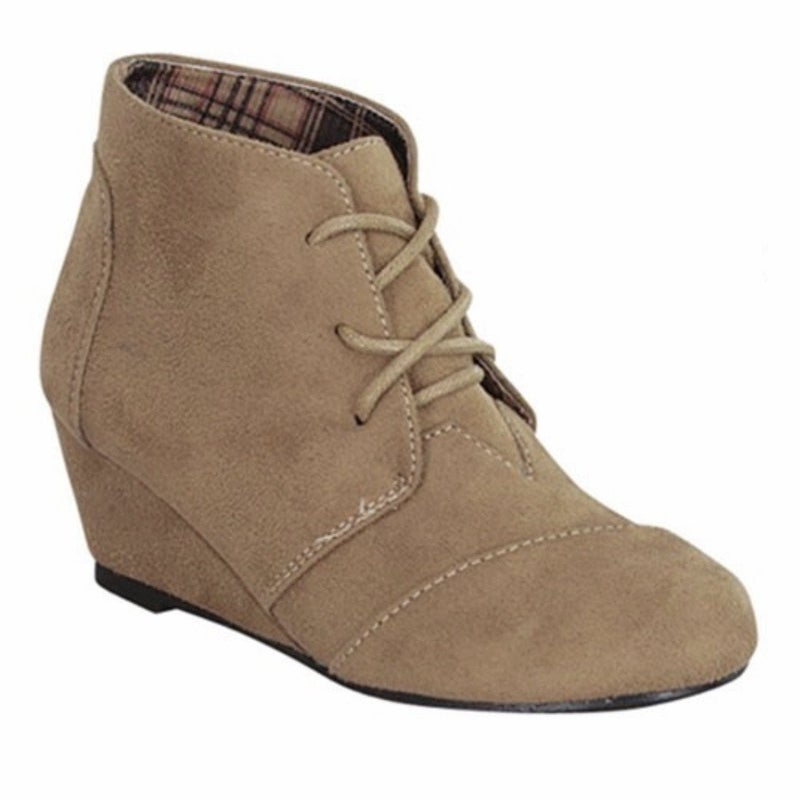 Taupe Wedge Bootie