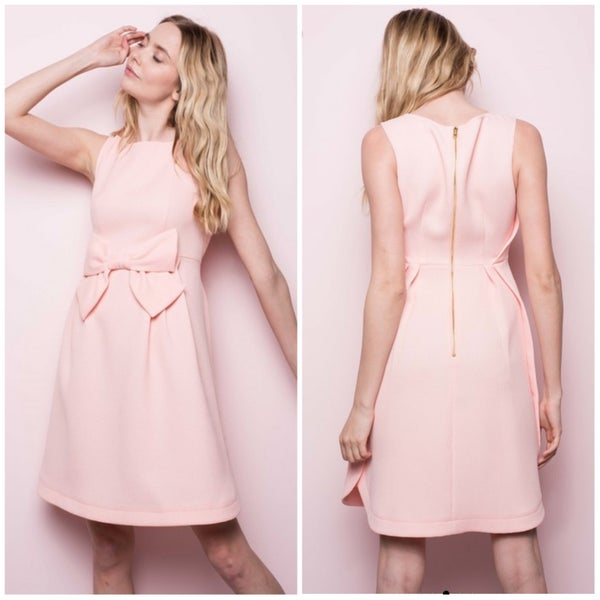 FINALSALE Blush Bow Dress