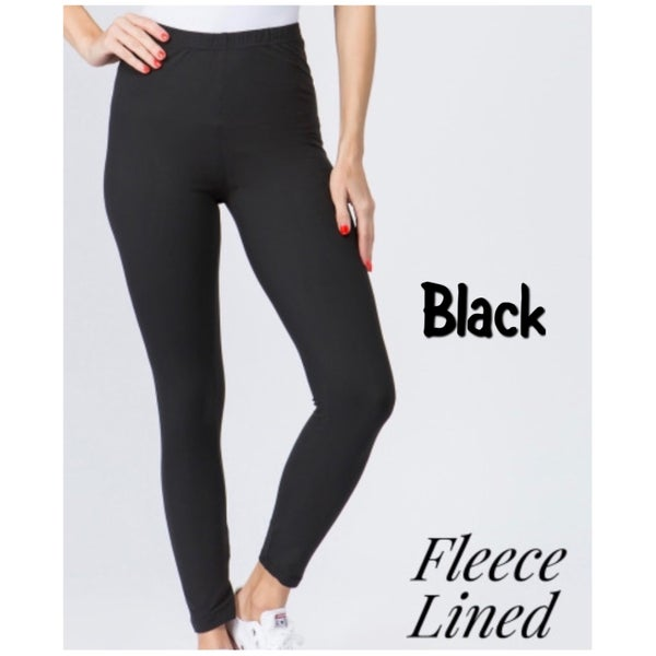 Fall Fleece Lined Leggings