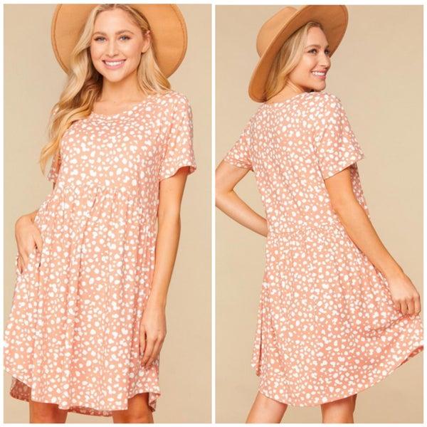 Blush Animal Print Dress