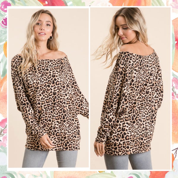 LAST CHANCE Animal Print Tunic FINAL SALE