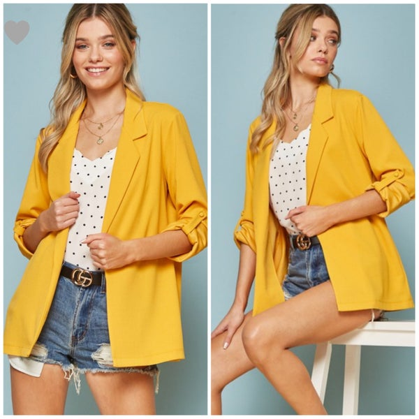 Adorable Mustard Blazer