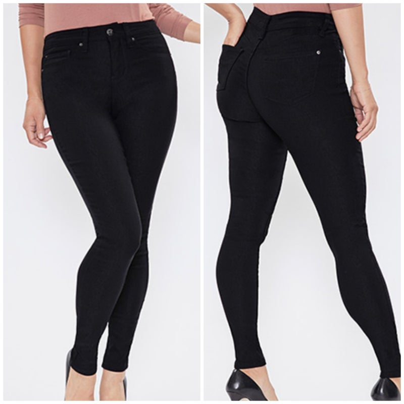 Black Hyperstretch Mid Rise Skinny Pant