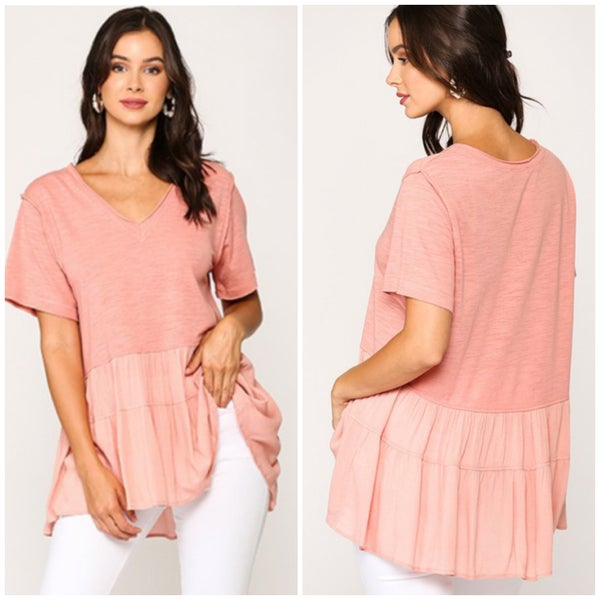Rose Tiered Ruffle Top
