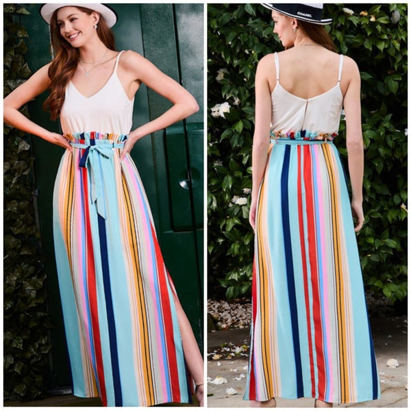 Multi Striped Maxi Dress