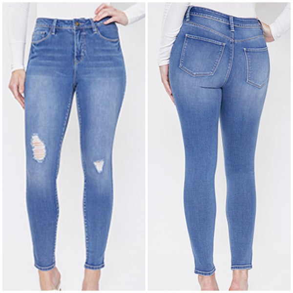 High Rise Skinny Hide Your Muffin Top Denim