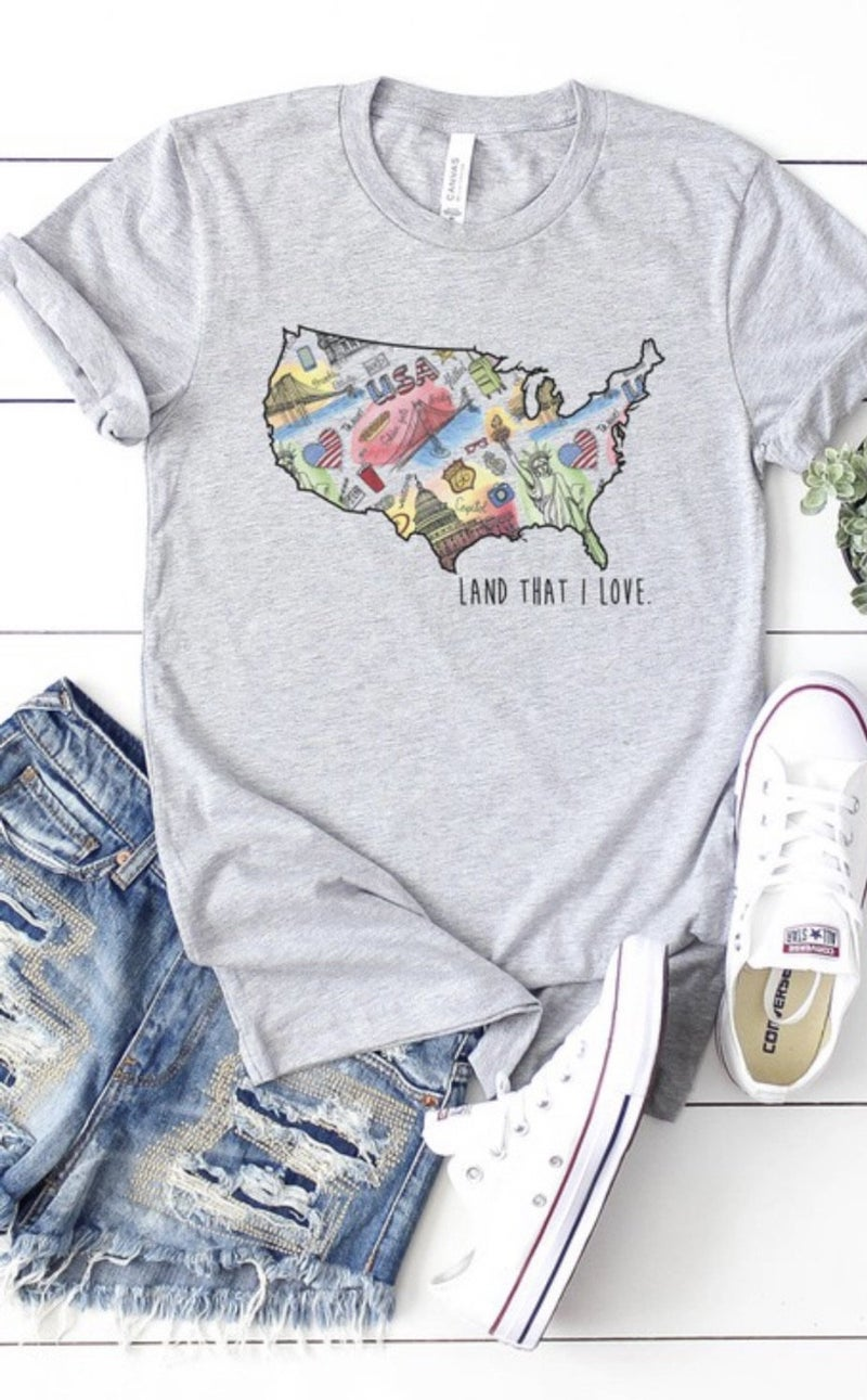 USA Land That I Love Tee