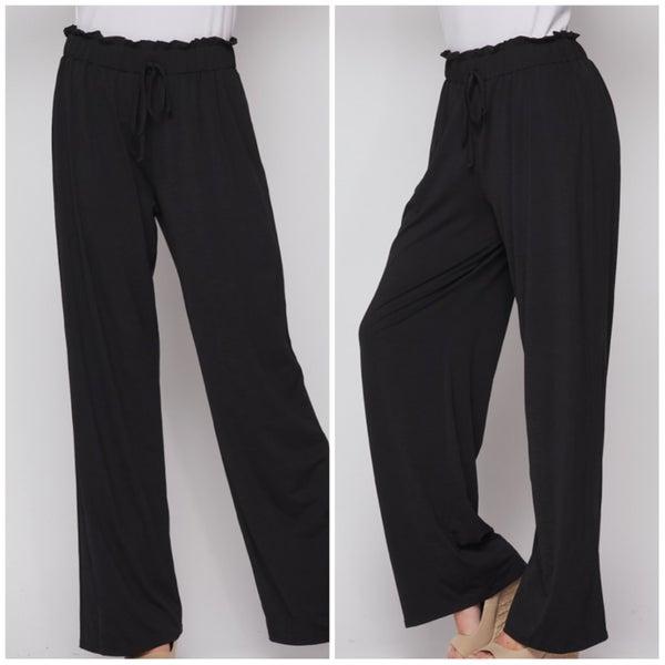 FINAL SALE Black Tie Pants