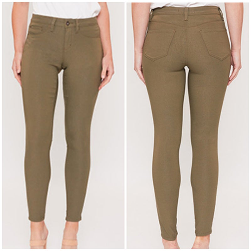 Olive Hyperstretch Skinny Jeans