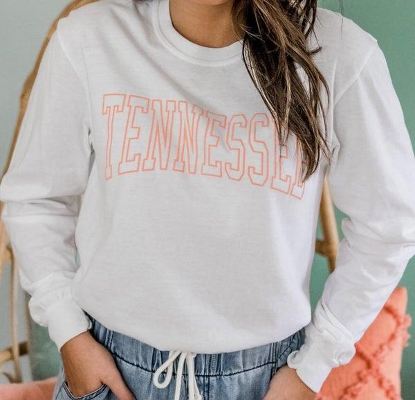 White Tennessee Long Sleeve Tee