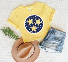 Yellow Polka Dot Tristar Tee