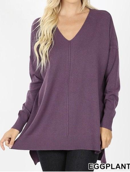 Eggplant Comfy Sweater