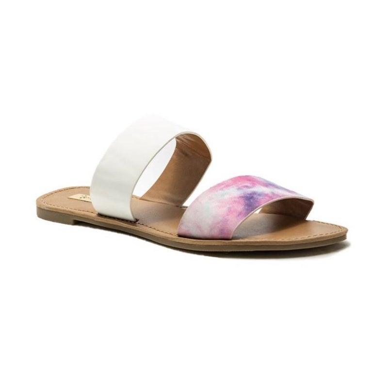Tie Dye White Sandals