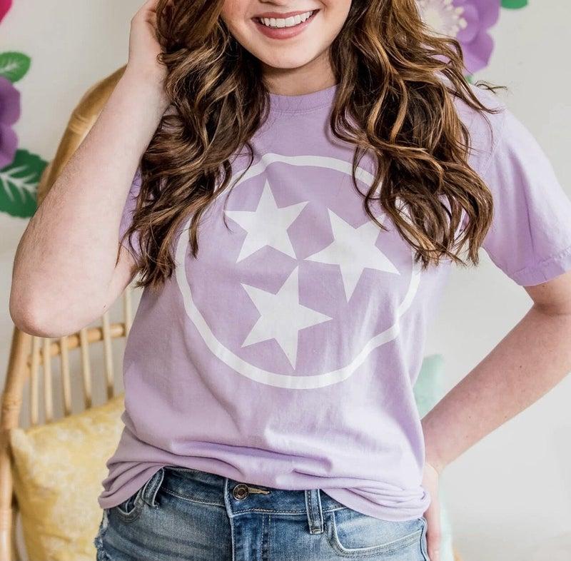 Lavender Tristar Short Sleeve Tee
